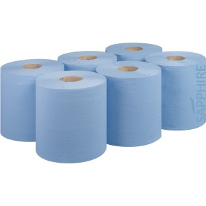 Blue Roll 6pk  120 metre  Embossed Recycled 2ply